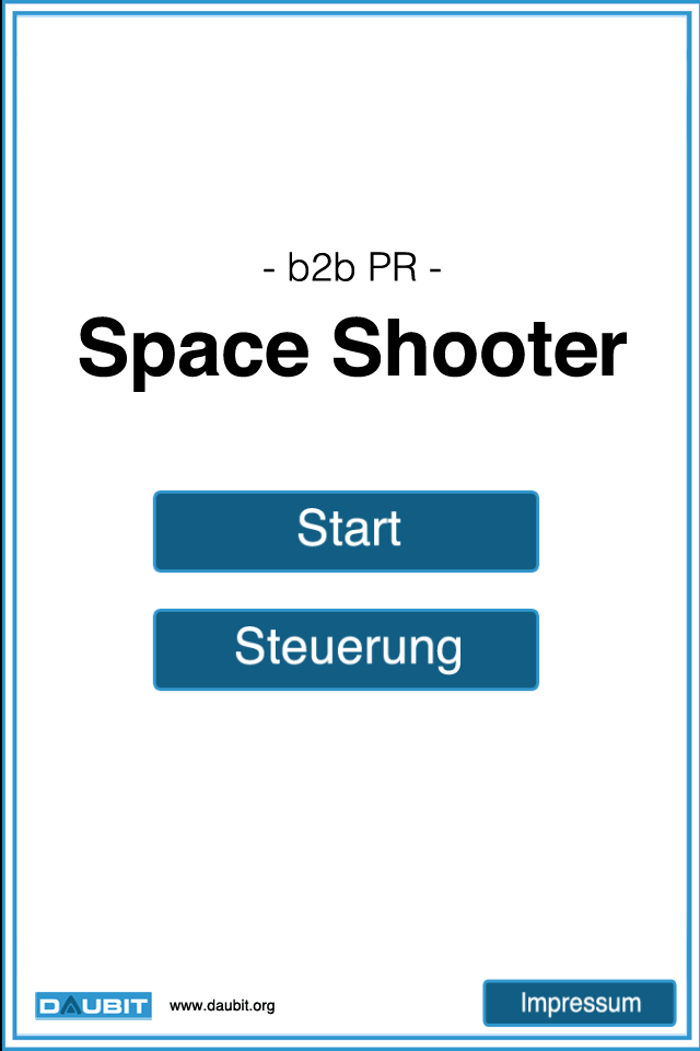 Screenshot b2b PR Space Shooter